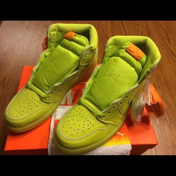 reputable site high fashion price reduced Nike Air Jordan 1 Retro High Gatorade Lemon Lime NWT